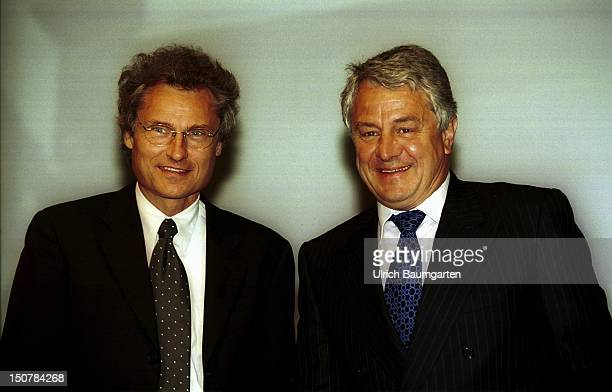 DR hc Hasso PLATTNER and PROF DR Henning KAGERMANN spokesmen of the board of management of the SAP AG in Walldorf during the general meeting in...