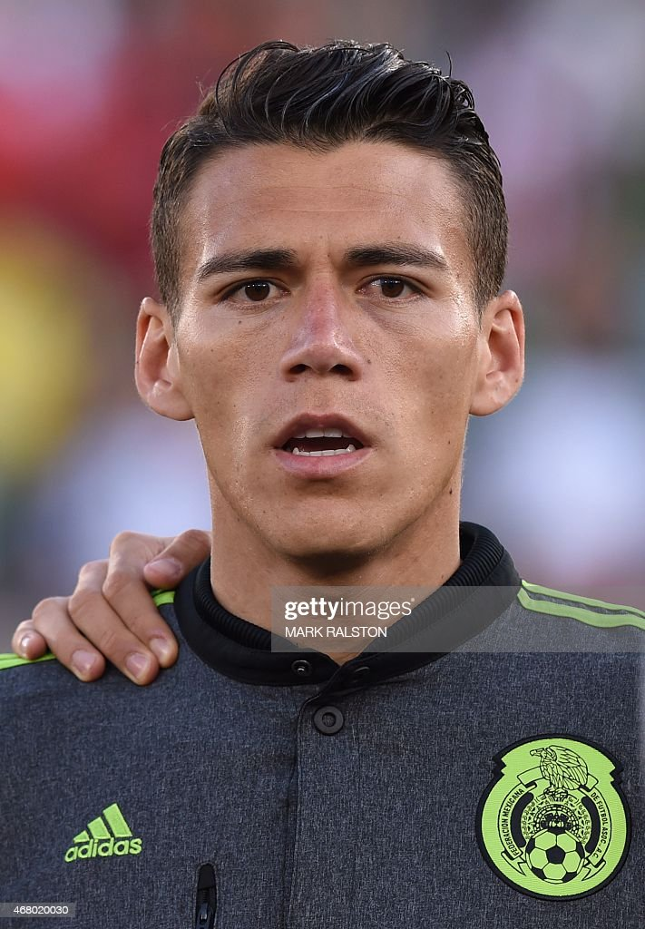 Héctor Moreno of Mexico during the friendly football match Mexico vs Ecuador at the LA Memorial Coliseum in Los Angeles on March 28 2015 Mexico went...
