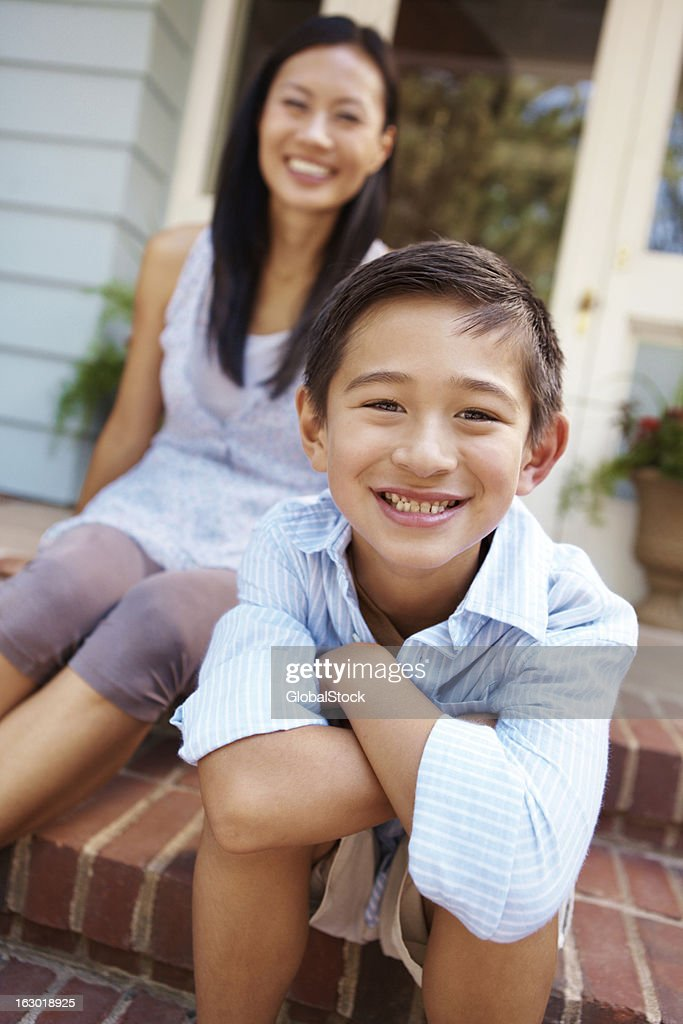 He comes from a loving home : Stock Photo
