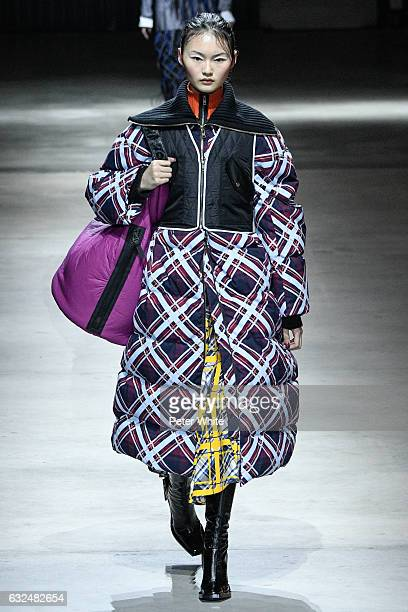 He Cong walks the runway during the Kenzo Menswear Fall/Winter 20172018 show as part of Paris Fashion Week on January 22 2017 in Paris France
