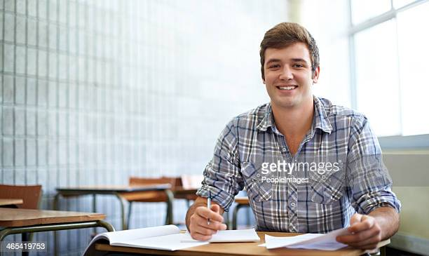 He determined to do well this semester
