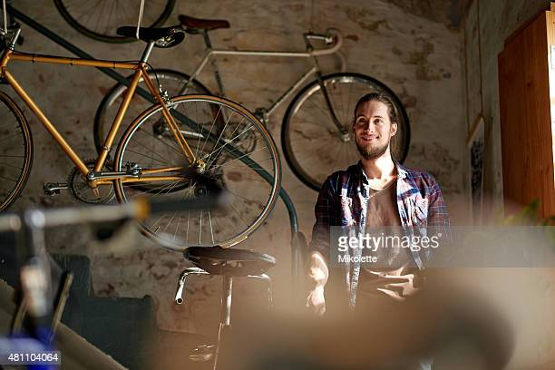 He does a really great job at fixing bicycles