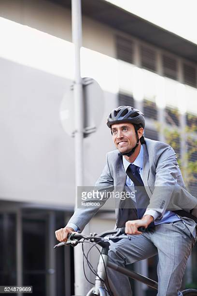 He enjoys cycling to work