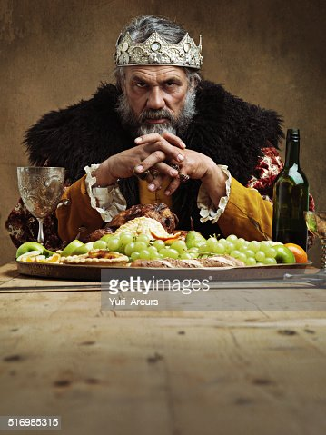 He feasts while the serfs starve