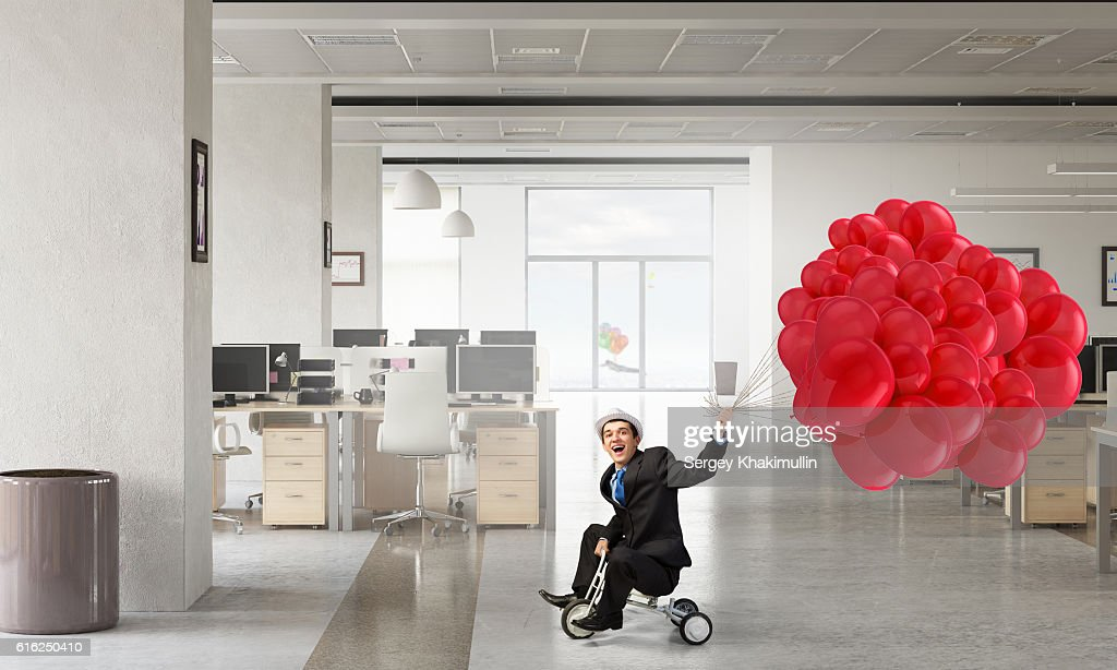 He is acting like a child . Mixed media : Stock Photo
