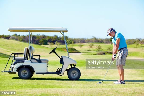 He loves golfing!