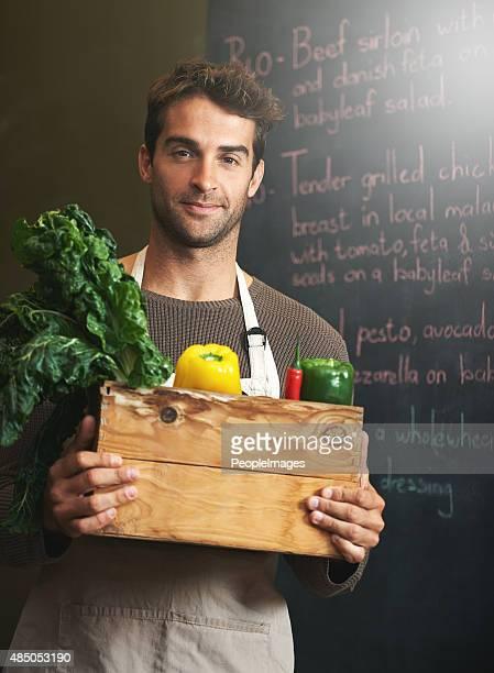 Il adore ses légumes !