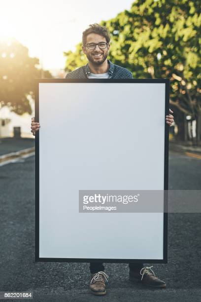 He loves holding up your message for you