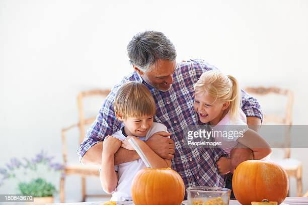 He loves spending time with his kids
