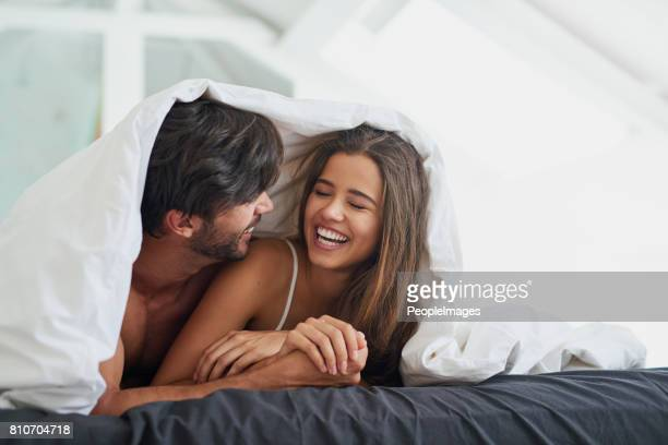 He loves the sound of her laughter