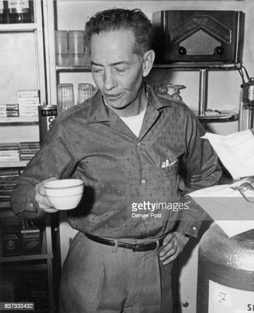 He Ran Out on Gunman Charles S Parker owner of the Parker Pharmacy 701 E 6th Ave shows how he was drinking coffee at about 935 am Friday when man...
