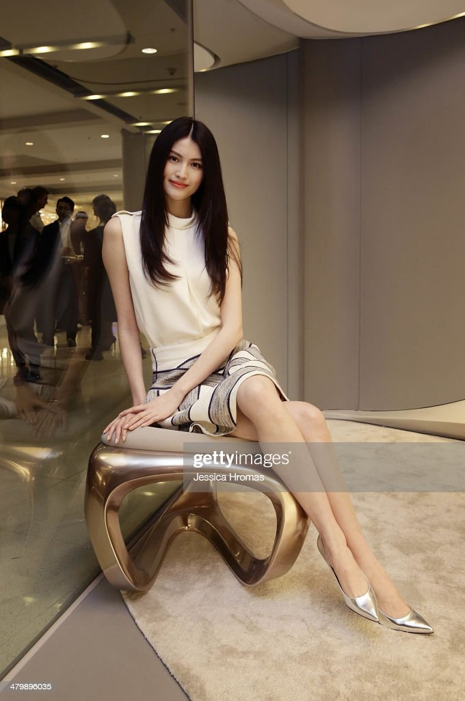 He Sui attends the opening of the Stuart Weitzman Boutique which was designed by Zaha Hadid in the IFC Mall, Central, Hong Kong, on March 21, 2014.