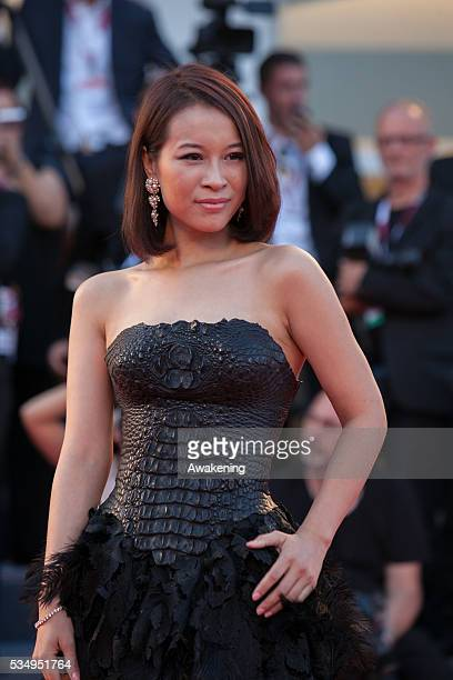 He Wenchao on the red carpet for 'Philomena' during the 70th Venice International Film Festival