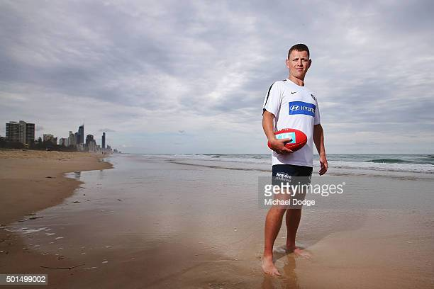 Heach coach Brendon Bolton poses after a circuit training session at Kurrawa Beach during the Carlton Blues AFL preseason training camp on December...