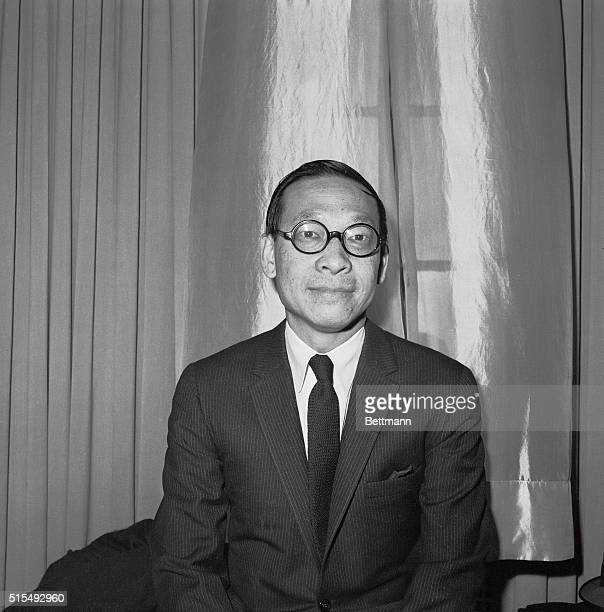 Head and shoulders photo of architect Ieoh Ming Pei He ia a native of Canton China and has been selected to design the John F Kennedy Memorial...