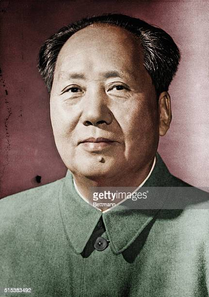 Head and shoulders portrait of Chinese Communist leader Mao TseTung Undated photograph
