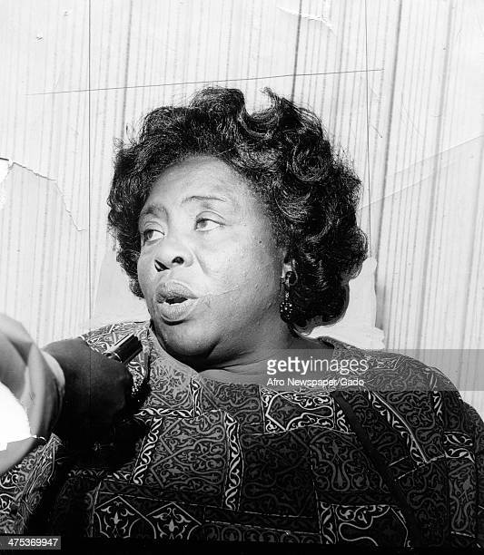 A head and shoulders portrait of civil rights leader Fannie Lou Harmer August 23 1968