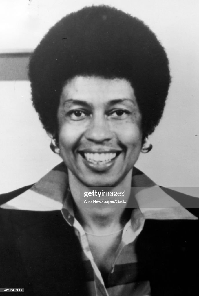 AA head and shoulders portrait of congresswoman Eleanor Holmes Norton, 1970.