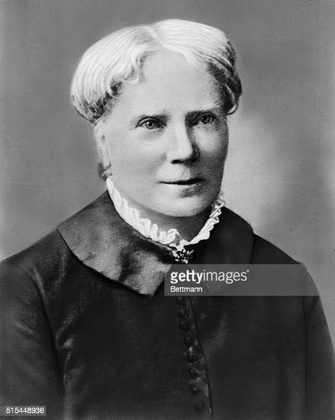 Head and shoulders portrait of Elizabeth Blackwell the first woman to receive a medical degree in the US Undated photograph