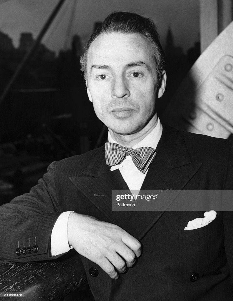 1948- Head and shoulders portrait of George Ballanchine.