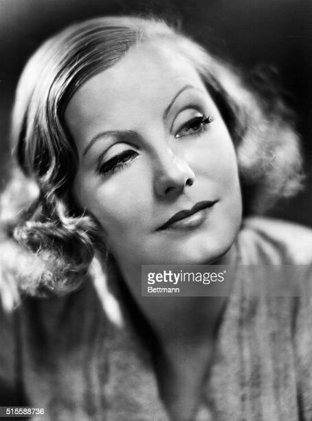 Head and shoulders portrait of Greta Garbo full face Undated photograph