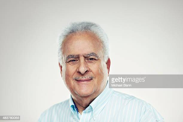 Head and shoulders portrait of mature man