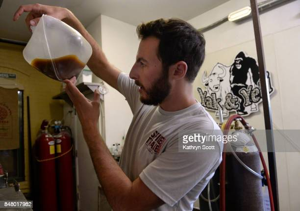 Head brewer Jeff Tyler works through some of his recipes at the Spice Trade Brewing Company on September 11 2017 in Arvada Colorado Tyler is...