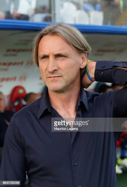 Head caoch of Crotone Davide Nicola during the Serie A match between FC Crotone and ACF Fiorentina at Stadio Comunale Ezio Scida on October 29 2017...