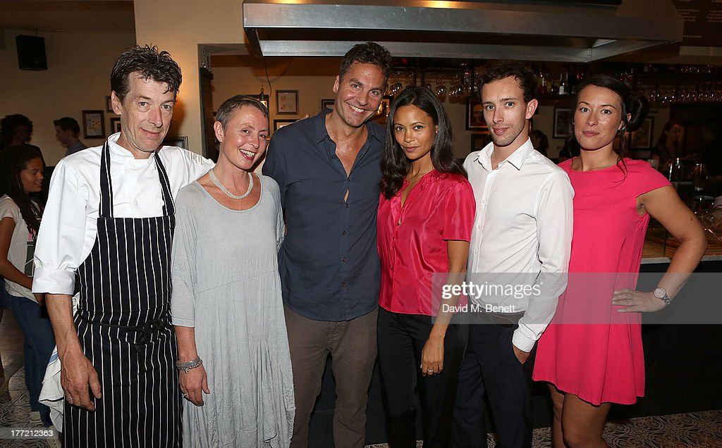 Head Chef and owner Mark Gautier, Corinne Gautier, <a gi-track='captionPersonalityLinkClicked' href=/galleries/search?phrase=Ol+Parker&family=editorial&specificpeople=734633 ng-click='$event.stopPropagation()'>Ol Parker</a>, <a gi-track='captionPersonalityLinkClicked' href=/galleries/search?phrase=Thandie+Newton&family=editorial&specificpeople=210812 ng-click='$event.stopPropagation()'>Thandie Newton</a>, Guy Gautier and Liana Gautier attend the launch party of Madame Gautier on August 22, 2013 in London, England.