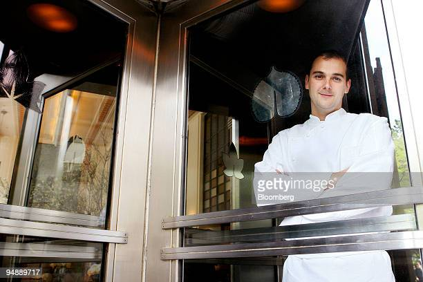 Head chef Daniel Humm stands for a portrait in the entrance to Eleven Madison Park a restaurant located at 11 Madison Avenue in New York US on Friday...