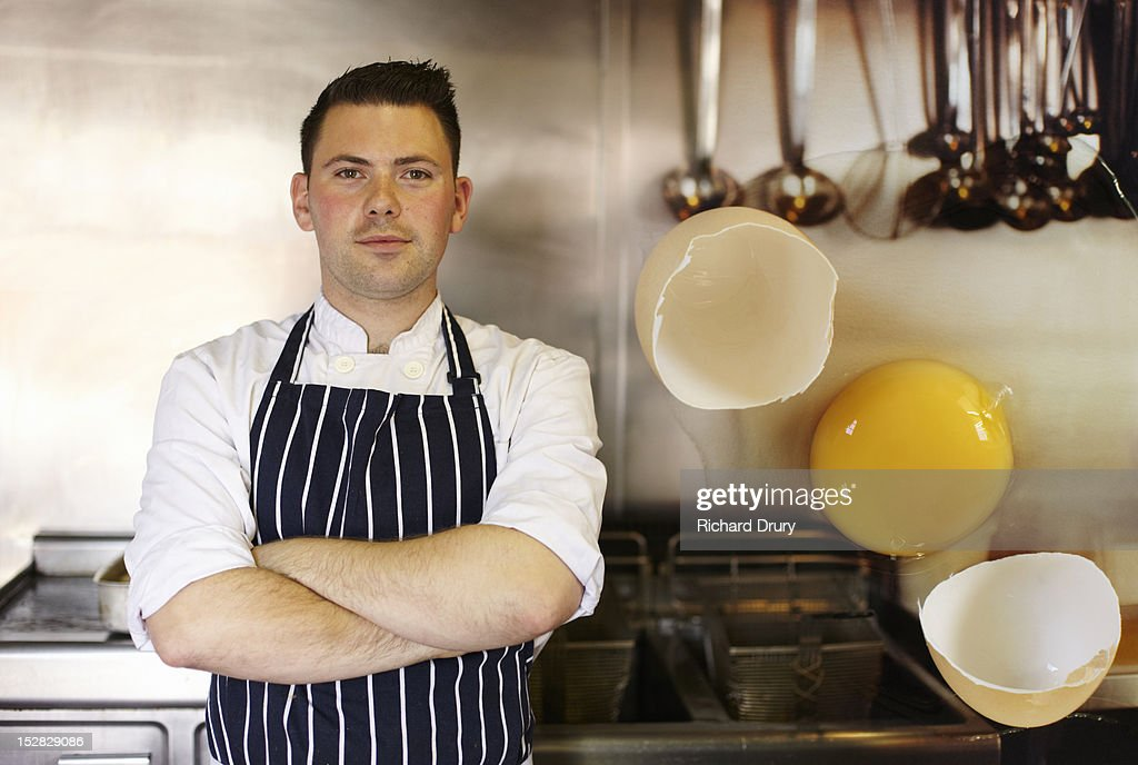 Head chef in his kitchen : Stock Photo