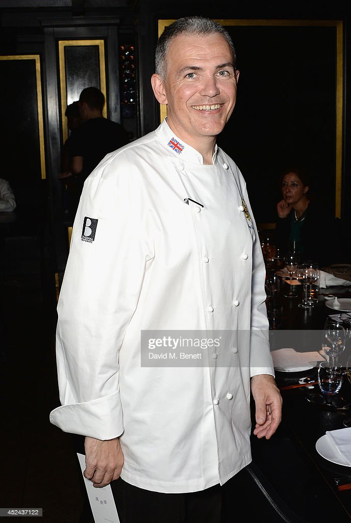 Head Chef to the UK Royal household Mark Flanagan attends Le Club des Chefs des Chefs dinner at Hakkasan Hanway Place on July 20, 2014 in London, England.