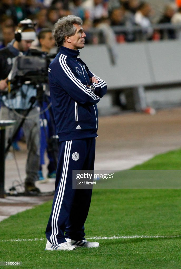 Head Coach Adrion Rainer of Germany during the Under 21 International Friendly match between Israel and Germany on March 24, 2013 in Tel Aviv , Israel.
