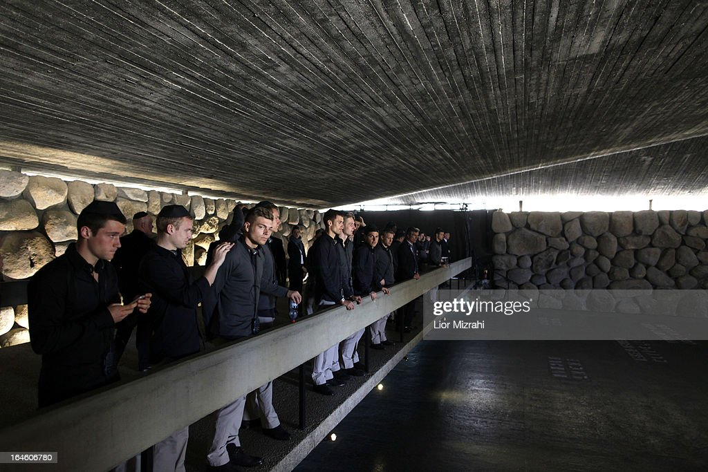 Head Coach Adrion Rainer of the U21 Germany football team seen during the visit of Yad Vashem on March 25, 2013 in Jerusalem, Israel. Yad Vashem is Israel's official memorial to the Jewish victims of the Holocaust.