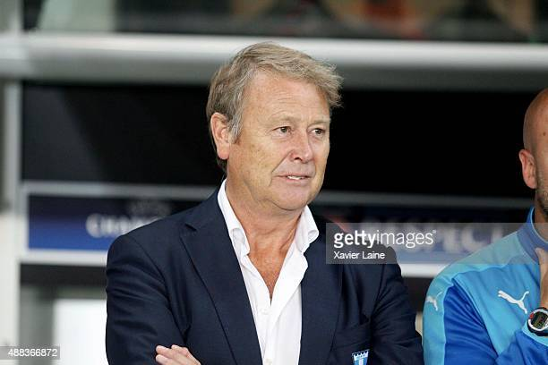 Head coach Age Hareide of Malmo FF during the UEFA Champions League between Paris SaintGermain and Malmo FF at Parc Des Princes on September 15 2015...