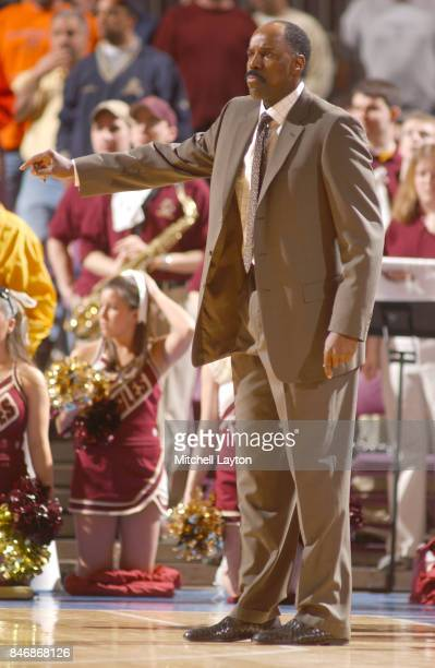 Head coach Al Skinner of the Boston College Eagles looks on during a Quarterfinal Big East Men's Basketball Tournament game against the St John's Red...
