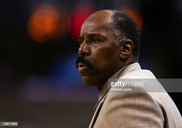 Head coach Al Skinner of the Boston College Eagles looks on in the first half against the Georgetown Hoyas during round two of the NCAA Men's...