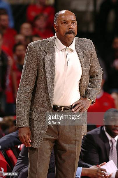 Head coach Al Skinner of the Boston College Eagles watches the game against the Maryland Terrapins at the Comcast Center on January 27 2009 in...