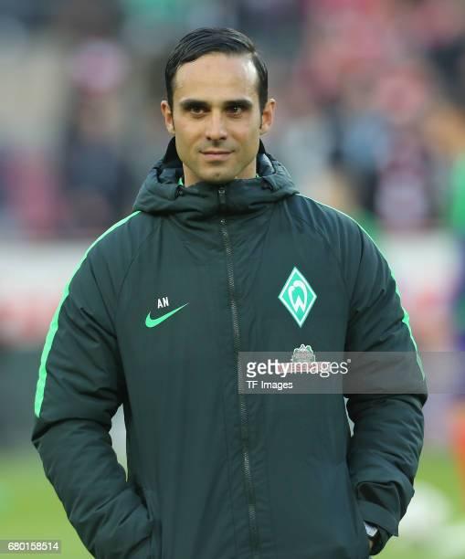 Head coach Alexander Nouri of Bremen looks on during to the Bundesliga match between 1 FC Koeln and Werder Bremen at RheinEnergieStadion on May 5...