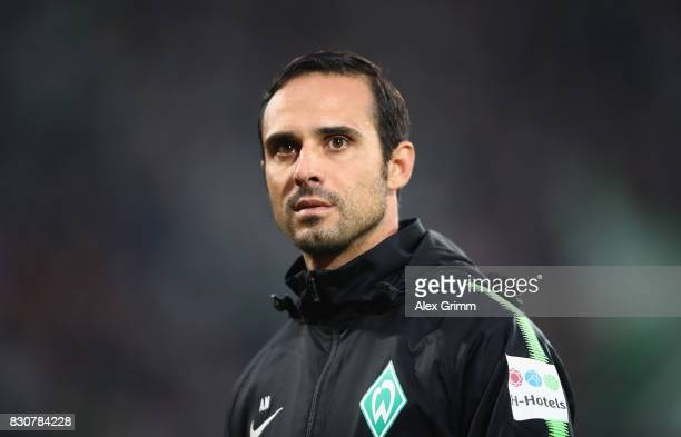 Head coach Alexander Nouri of Bremen looks on prior to the DFB Cup first round match between Wuerzburger Kickers and SV Werder Bremen at...