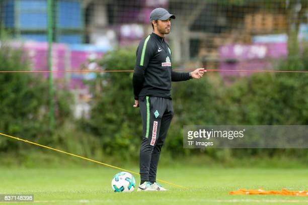 Head coach Alexander Nouri of Werder Bremen looks om during the Training Camp of SV Werder Bremen on July 13 2017 in Zell am Ziller Austria