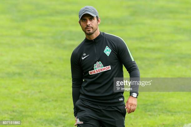 Head coach Alexander Nouri of Werder Bremen looks om during the Training Camp of SV Werder Bremen on July 14 2017 in Zell am Ziller Austria