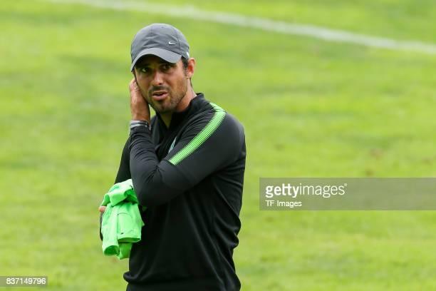 Head coach Alexander Nouri of Werder Bremen looks on during the Training Camp of SV Werder Bremen on July 13 2017 in Zell am Ziller Austria