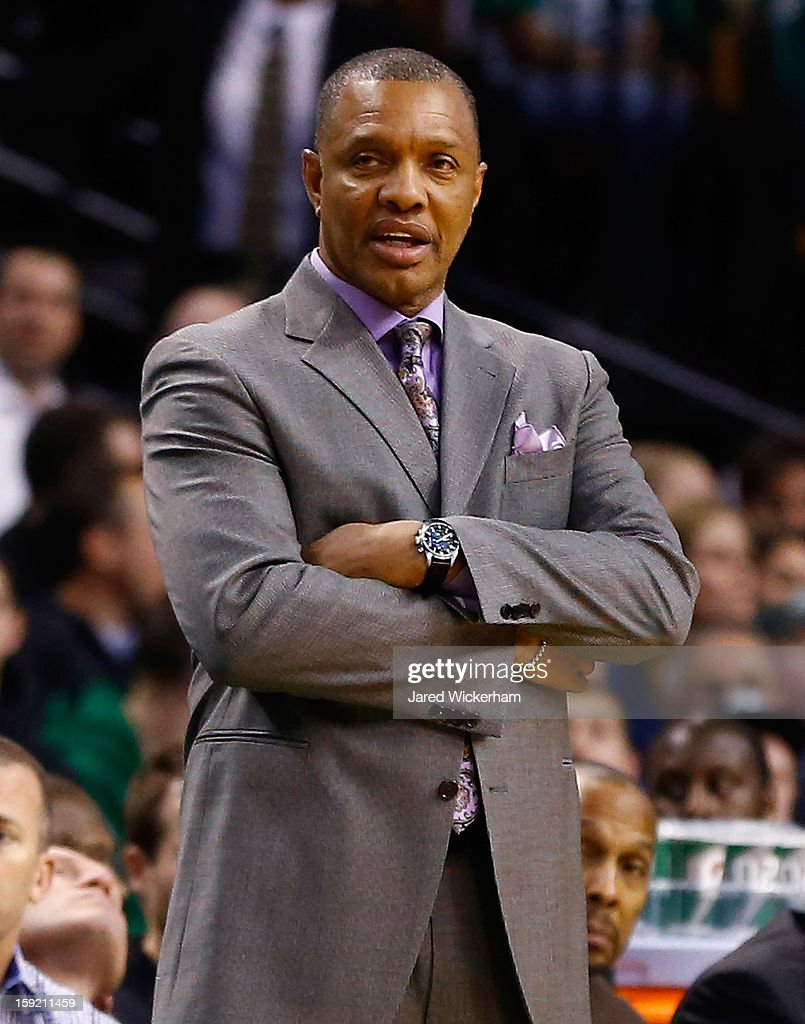 Head coach Alvin Gentry of the Phoenix Suns watches his team play against the Boston Celtics during the game on January 9, 2013 at TD Garden in Boston, Massachusetts.