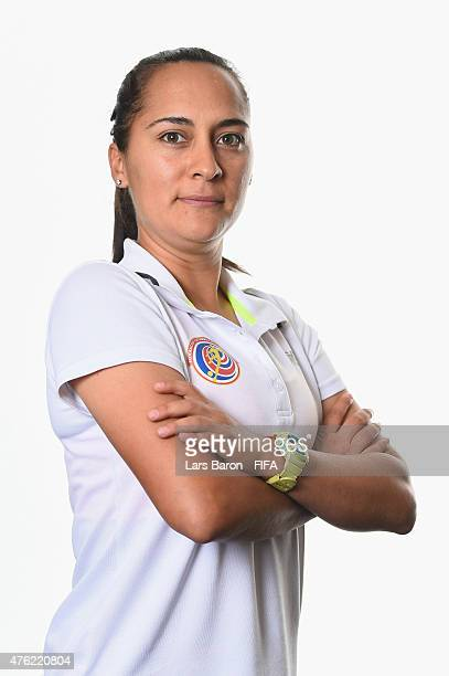 Head coach Amelia Valverde of Costa Rica poses during the FIFA Women's World Cup 2015 portrait session at Sheraton Le Centre on June 6 2015 in...