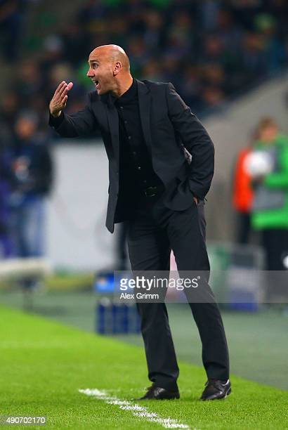 Head Coach Andre Schubert of Borussia Moenchengladbach on the touchline during the UEFA Champions League Group D match between VfL Borussia...