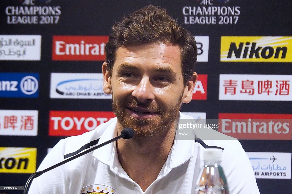 Head coach Andre Villas-Boas of Shanghai SIPG F.C. attends pre-match press conference of the AFC Champions League 2017 Quarterfinals 1st leg between Shanghai SIPG and Guangzhou Evergrande at Shanghai Stadium on August 21, 2017 in Shanghai, China.