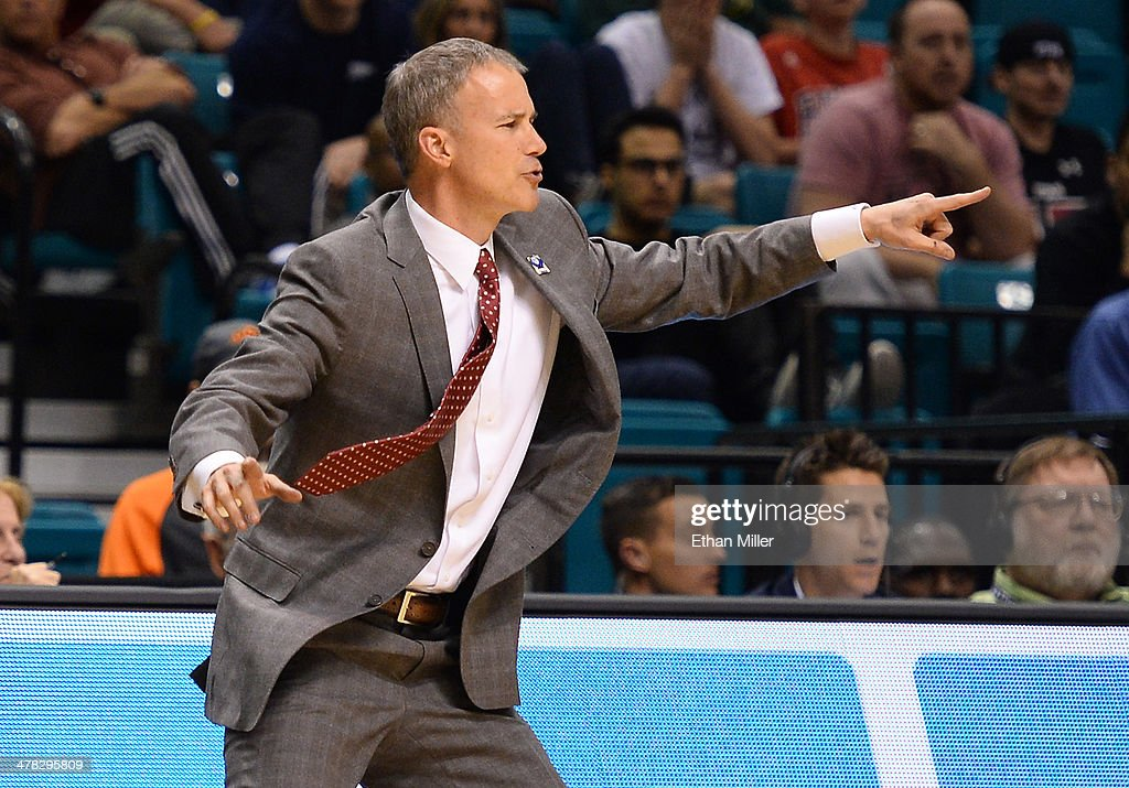 Head coach <a gi-track='captionPersonalityLinkClicked' href=/galleries/search?phrase=Andy+Enfield&family=editorial&specificpeople=5624033 ng-click='$event.stopPropagation()'>Andy Enfield</a> of the USC Trojans reacts during a first-round game of the Pac-12 Basketball Tournament against the Colorado Buffaloes at the MGM Grand Garden Arena on March 12, 2014 in Las Vegas, Nevada. Colorado won 59-56.