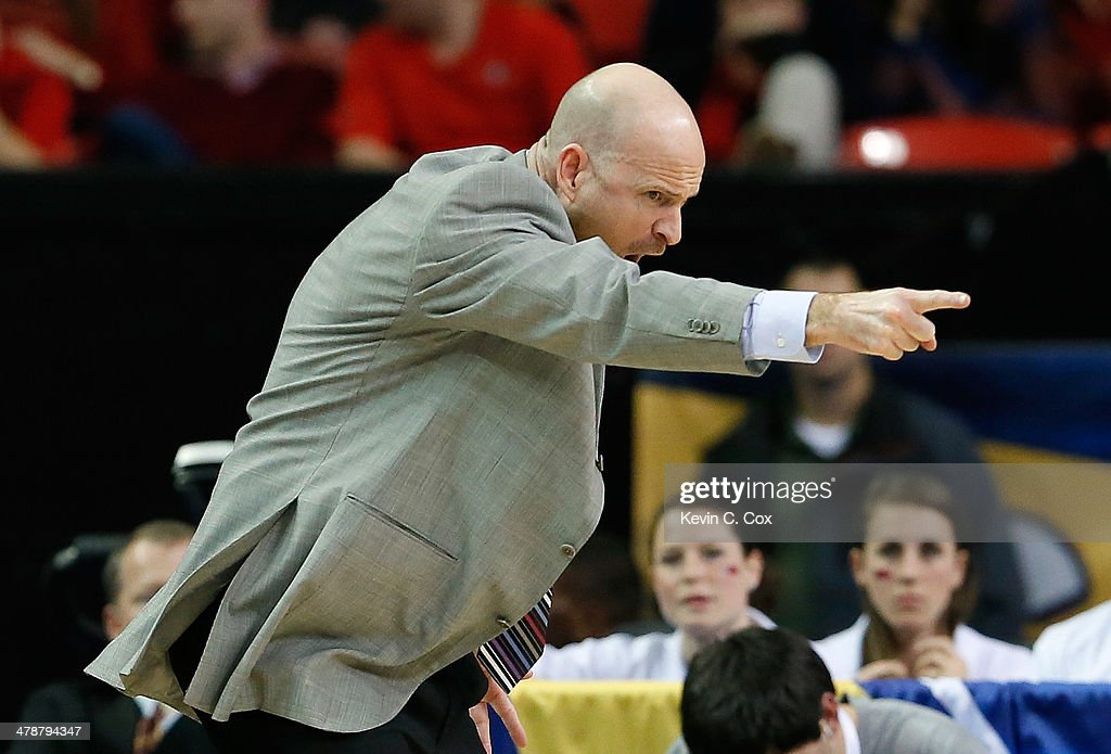 Head coach Andy Kennedy of the Mississippi Rebels reacts during the quarterfinals of the SEC Men's Basketball Tournament against the Georgia Bulldogs at Georgia Dome on March 14, 2014 in Atlanta, Georgia.