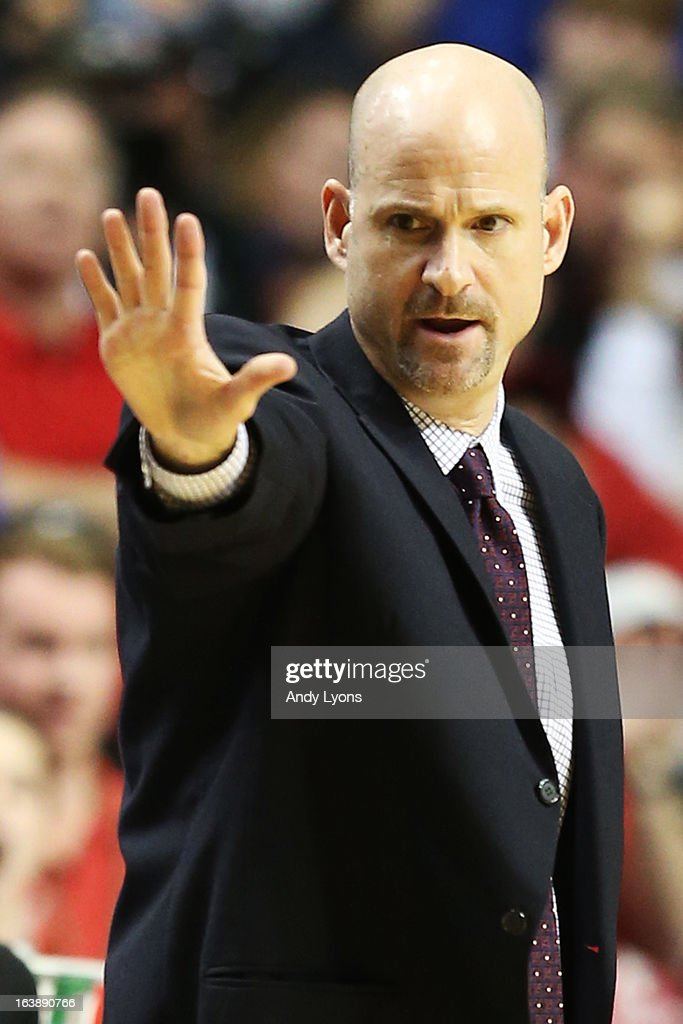 Head coach Andy Kennedy of the Ole Miss Rebels reacts in the second half against the Florida Gators during the SEC Basketball Tournament Championship game at Bridgestone Arena on March 17, 2013 in Nashville, Tennessee.
